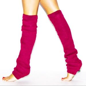 American Apparel | Magenta leg warmers.